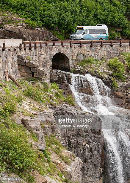 Waterfall alongside Goingtothesun road in Glacier National Park