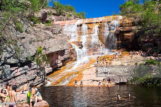 cascata di chapada diamantina - parco nazionale di chapada diamantina foto e immagini stock