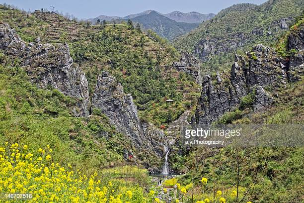 waterfall at dabie mountain - andre vogelaere stock pictures, royalty-free photos & images