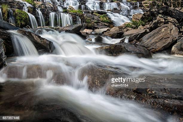 waterfall at Doi Inthanon national park in Chiang Mai Thailand.