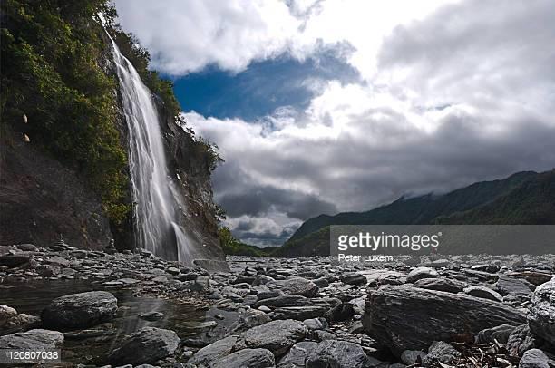 Waterfall at Franz Jozef glacier