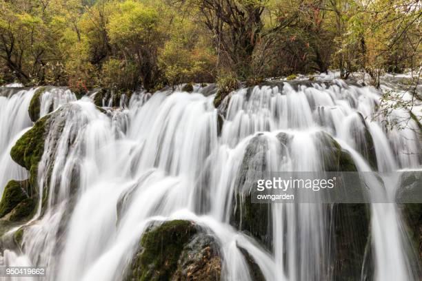 Waterfall at Jiuzhaigou, Sichuan, China