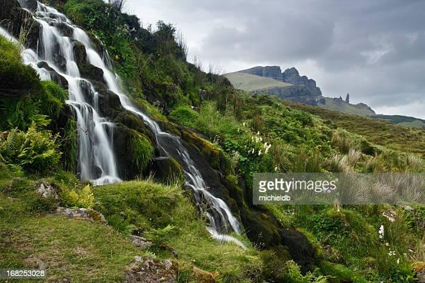 Waterfall at Oldman Storr
