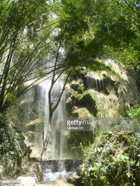 waterfall at oslo, cebu - michael stock photos and pictures