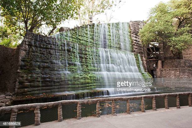 Waterfall at Rock garden by Nek Chand Saini Rock Garden of Chandigarh India