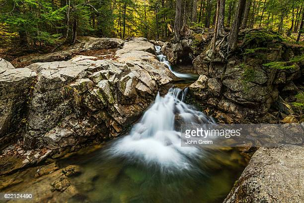 Waterfall at the Basin in Franconia State Park