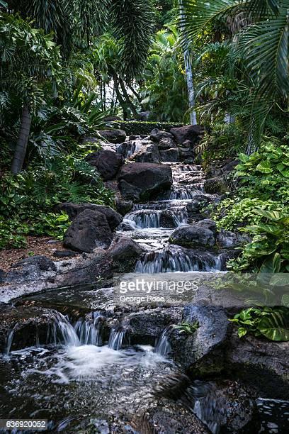 Waterfall at the Fairmont Orchid Hotel is viewed on December 17 along the Kona Kohala Coast, Hawaii. Hawaii, the largest of all the Hawaiian Islands...