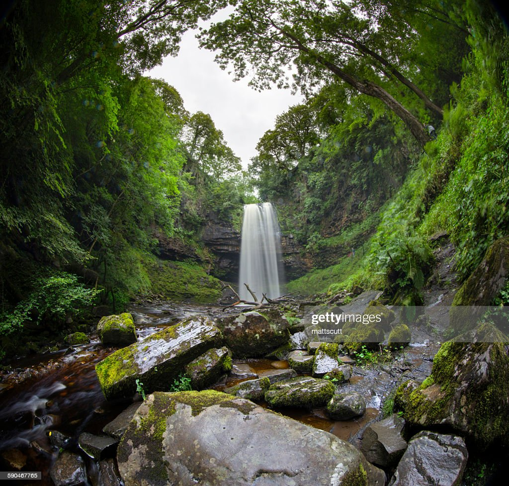 Waterfall, Brecon Beacons National Park, Wales, UK : Stock Photo