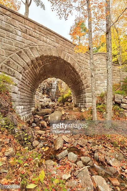 Waterfall Bridge, Autumn, Acadia National Park
