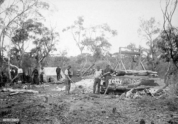 Waterfall gold mine Boorara Kalgoorlie Western Australia 1896 The town of Kalgoorlie grew up after gold was discovered in the area in June 1893