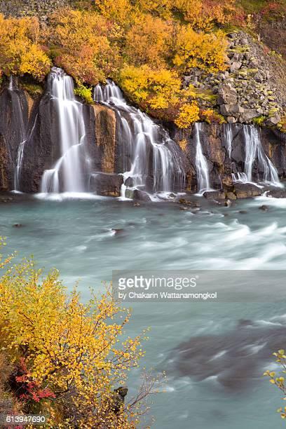 Waterfall in Autumn (Hraunfossar - Iceland)