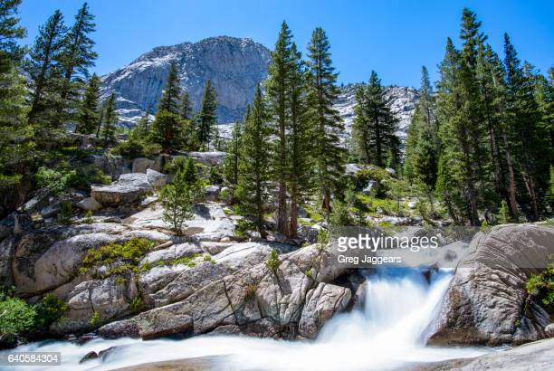 waterfall in california sierra nevada - john muir trail stock photos and pictures