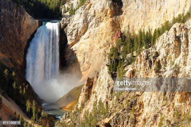 Waterfall in canyon at Yellowstone National Park, Wyoming, USA