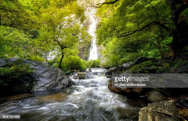 Waterfall in deep forest at Klong Lan