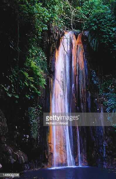 Waterfall Huay Mae Kamin Beautiful In Tropical Forest Kanchanaburi Province Thailand