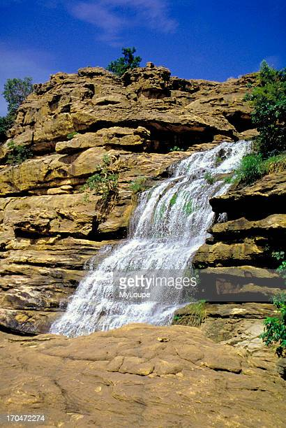 A waterfall in Dogon Country near the village of Tele in Mali West Africa