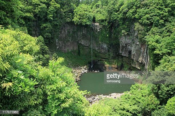 Waterfall in forest, Gorougataki