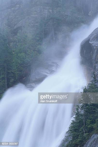 waterfall in forest - sirulnikoff stock photos and pictures