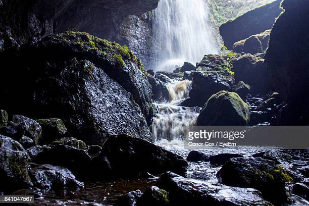 waterfall in forest - conor stock pictures, royalty-free photos & images