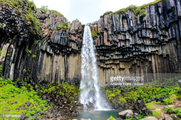waterfall in iceland - amanda and amanda stock pictures, royalty-free photos & images