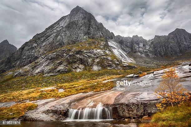 Waterfall in Lofoten, Norway