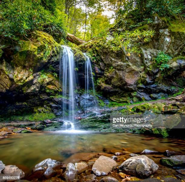 Waterfall in Mountain setting-Square
