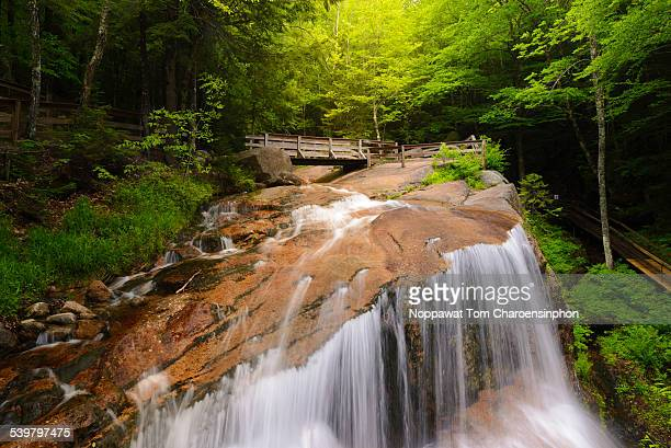 waterfall in new hampshire - state park stock pictures, royalty-free photos & images