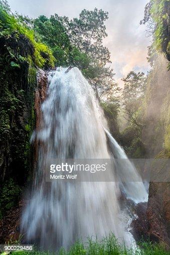Waterfall In Ravine Air Terjun Belawan