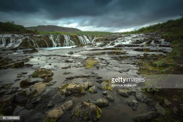 Waterfall in summer ;Iceland