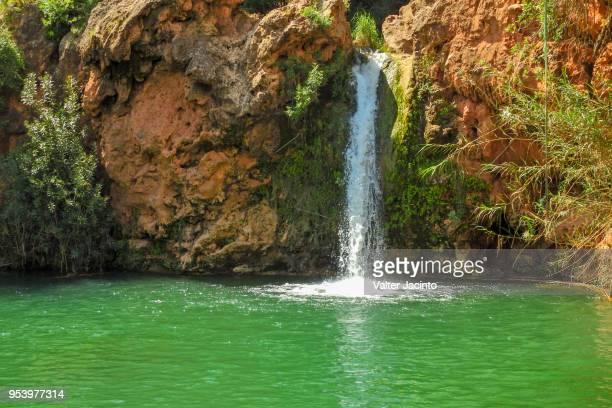 waterfall in tavira, portugal: pego do inferno - tavira imagens e fotografias de stock