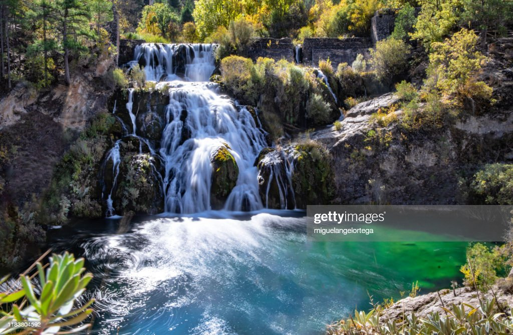 Waterfall in the High Tajo, Spain : Foto de stock