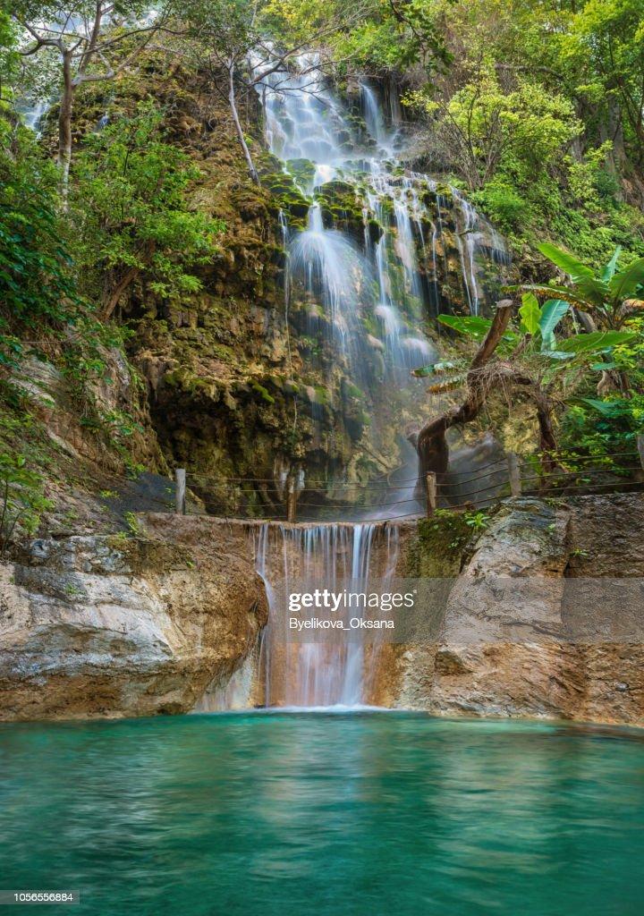 Waterfall in Tolantongo .Grutas Tolantongo, Hidalgo. Mexico : Stock Photo