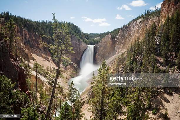 Waterfall in Yellowstone Canyon