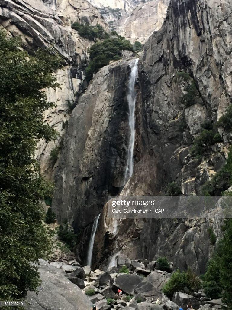 Waterfall in yosemite national park : Stock Photo