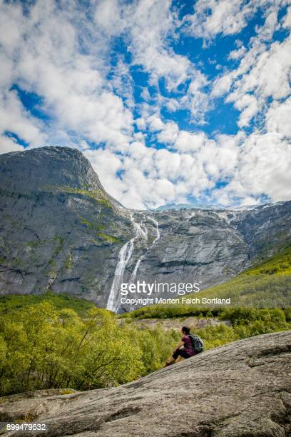 Waterfall, Jostedalsbreen national park, Norway