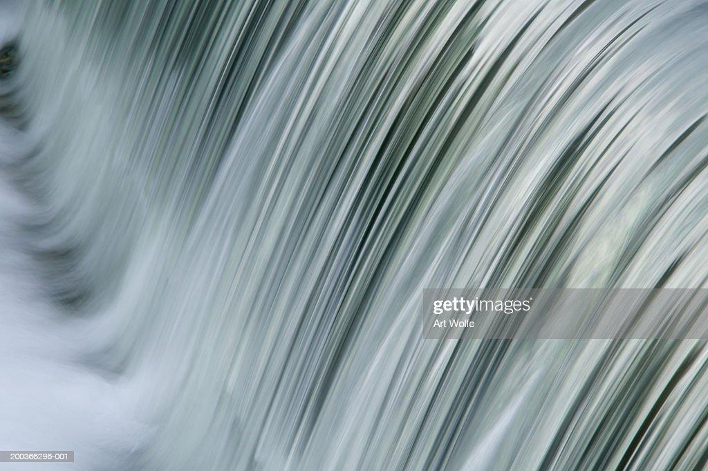 Waterfall, Kyoto, Honshu, Japan, close-up : Stock Photo