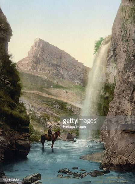 Waterfall near Kislovodsk, Russia, c1895. Kislovodsk is a spa town in the northern Caucasus. In the late 19th and early 20th century it was a popular...