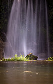Waterfall on a rock
