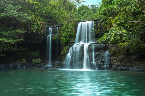 Waterfall (Klong Chao) on Koh Kood island - gettyimageskorea