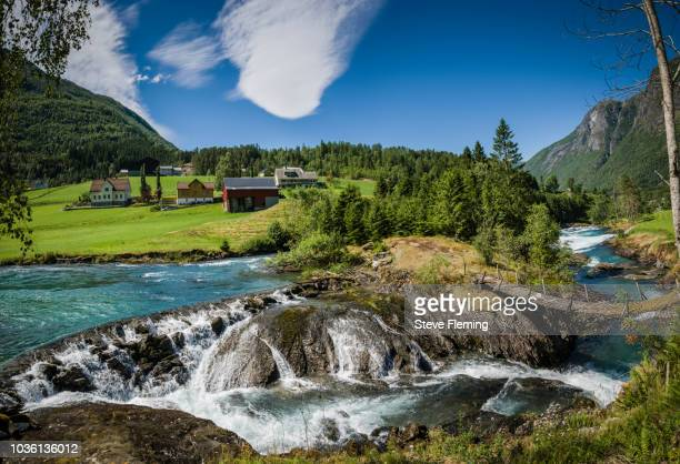 Waterfall on Loenelva River, Loen, Norway.