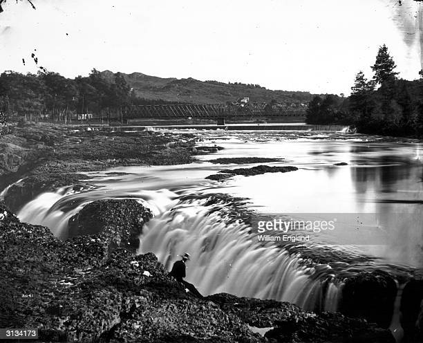 A waterfall on the Passaic River at Paterson New Jersey