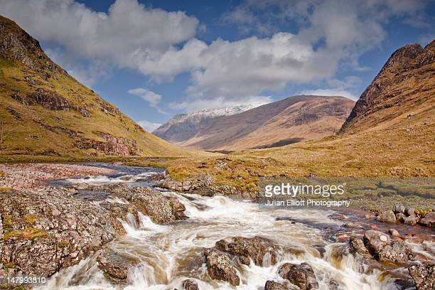 A waterfall on the river Etive in Glen Etive