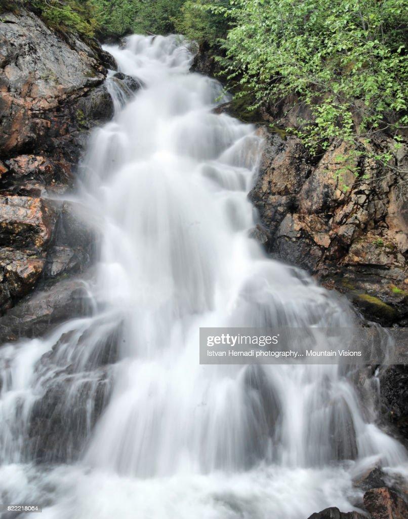 Waterfall on Vancouver island : Stock Photo