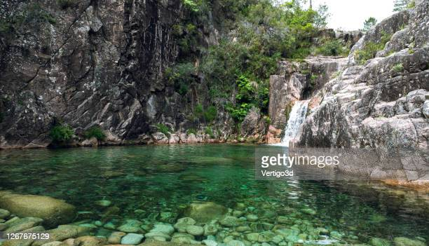 waterfall peneda-geres united kingdom - traditionally portuguese stock pictures, royalty-free photos & images