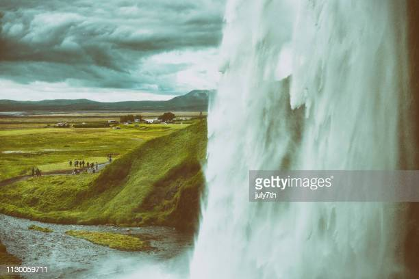 waterfall - behind waterfall stock pictures, royalty-free photos & images