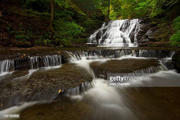 waterfall - skaneateles lake stock pictures, royalty-free photos & images