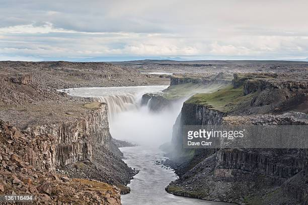 waterfall - dettifoss waterfall stock photos and pictures