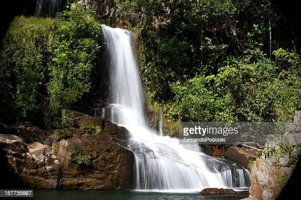 cascata - estado do mato grosso imagens e fotografias de stock