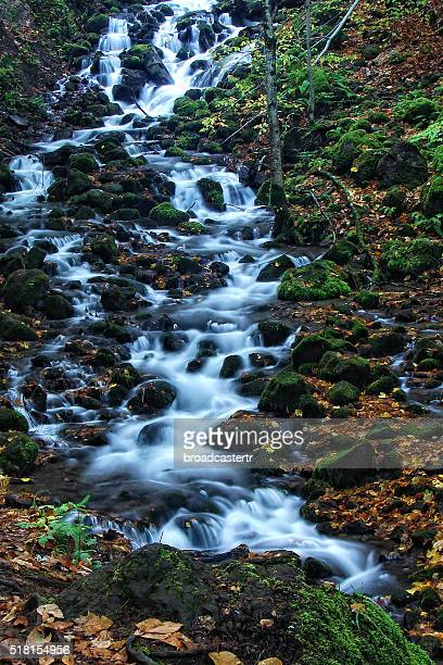 waterfall - bolu city stock photos and pictures