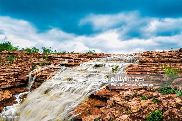 waterfall - parco nazionale di chapada diamantina foto e immagini stock